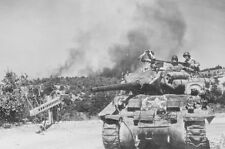 WW2 Photo WWII US Army M4 Sherman Tank in Action World War Two  / 3063