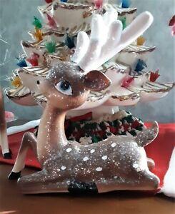 Vintage Deer Retro Reindeer Nostalgic Christmas Standing or Sitting Figurines