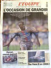 L'Equipe Journal 6/3/2001; Lyon-Bayern Munich/ The Race II/ Ferrari/ Poirier