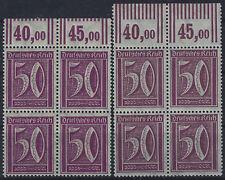 MiNr. 183a + 183b im Viererblock vom Walzenoberrand 2'9'2 postfrisch