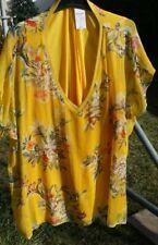Yours  Tunika  Bluse Gr. 58  gelb bunt