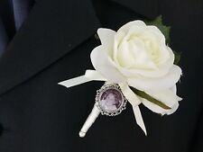 Grooms Buttonhole photo frame memory charm bridal bouquet photo memory charm