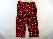 Mickey Mouse Juniors Size XL 16-18 Red fleece Pajama Pants