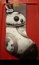 "Disney Star Wars Quilted 18"" BB8 FORCE Awakens Christmas Stocking - NWT"