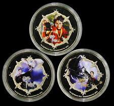 2004 TUVALU, 1 Dollar Harry Potter 3 Color Coins Set