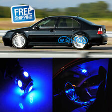 12Pcs Blue Car LED Interior Lights Package kit Fit Volkswagen MK4 Jetta GTI Golf