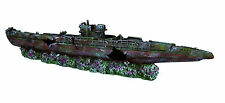 "Long Submarine Large War Shipwreck Cave Decoration Aquarium Ornament 51cm (20"")"