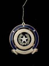 The State Of Texas Seal 1997 State Capital Christmas Ornament