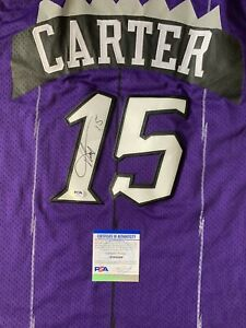 Vince Carter Signed Toronto Raptors NBA Jersey PSA/DNA Retro