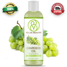 Grapeseed Oil 4 oz 100% Pure Natural Carrier Cold Pressed For Body Hair & Skin