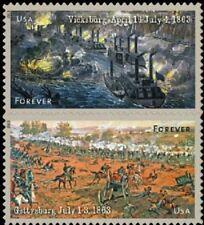 2013 46c The Civil War 1863 Vicksburg & Gettysburg Scott 4787-88 Mint F/VF NH