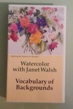 watercolor with janet walsh VOCABULARY OF BACKGROUNDS    VHS VIDEOTAPE