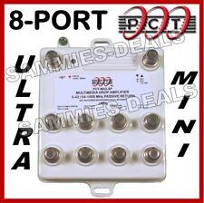 PCT 8-Port Cable TV OTA HDTV Amplifier Splitter Signal Booster
