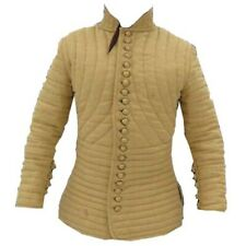 Medieval Gambeson  Padded collar full sleeves Thick yellow color slim