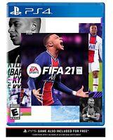 FIFA 21 PS4 NEW! FUTBOL, SOCCER LIONEL MESSI Cristiano Ronaldo