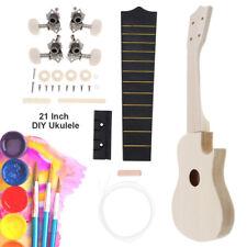 21 Inch Ukulele DIY Kit Hawaii Make Your Own Ukulele Basswood Concert Ukulele
