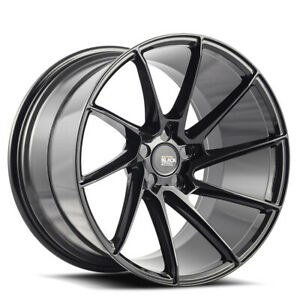 "19"" SAVINI BM15 BLACK CONCAVE WHEELS RIMS FITS INFINITI G37 G37S SEDAN"