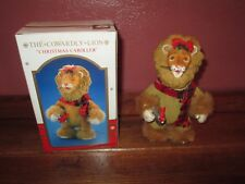 Wizard of Oz The Cowardly Lion Christmas Caroller Fabric Mache by Santa's World