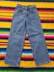 Vtg 90s Orange Tab Levis 575 Student Wide Leg Denim Mom Jeans Made USA 26 x 30