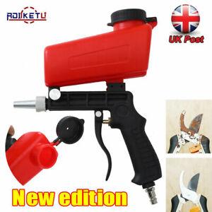 "1/4"" Air Sandblasting Gun Handheld Sand Blaster Portable Shot Media Blasting NEW"