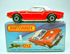 Matchbox SF Nr. 1C Dodge Challenger rot/weiß rare dot-dash Räder in Box