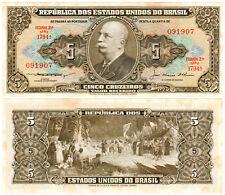 Brazil 5 Cruzeiros P#158c (1953) Serie 1794A Tesouro Nacional UNC
