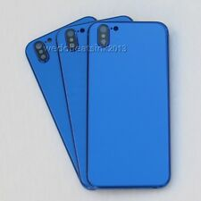 For iPhone 6s Replace to iPhone X Blue Metal Glass Back Rear Housing Cover