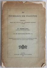 DR. Theodor Lipps: psicologia della suggestione. lezione 1897-hypnotismus-XZ