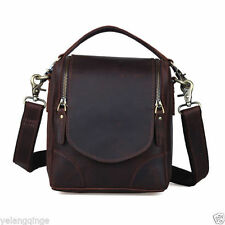 Retro Men's Real Leather Camera Bag Cross Body Messenger Shoulder Bags Tote