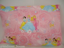 Child Toddler Cot Pillowcase Pink Disney Princesses - 100% Cotton Gorgeous!!