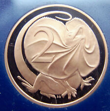 ***1983  2 cent proof coin from set! Only 80,000 made! Mirror finish! LIZARD!***