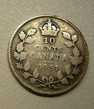 1907 to 1938 Canada 10 Cent Coin your choice of 1 from the list below