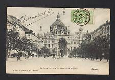 ANVERS (BELGIQUE) TRAMWAY à la GARE CENTRALE animée en 1906