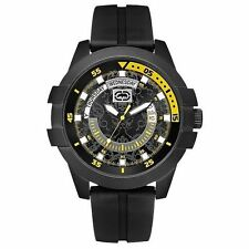 Marc Ecko Men E-GO Date Blk/Yellow Dial Watch E12583G3