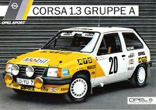Opel Corsa 1,3 Grupo un coche de Rally 1985-1986 Original Alemana folleto de ventas