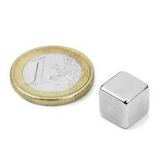 Super Magnete Cubo al Neodimio Lato 10 mm Potenza 3,8 Kg. W-10-N Magnetoterapia