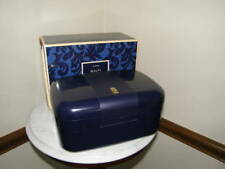2818 Avon Brand Navy Plastic MakeUp Box Swing Out Drawers Top BOX ONLY NO MAKEUP