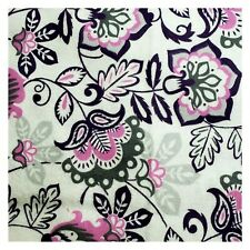 Purple Grey White Floral Flowers Flannel Fabric  Snuggle 1 Yard X 42