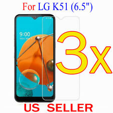 """3x Clear LCD Screen Protector Guard Cover Film For LG K51  (6.5"""")"""