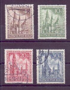 Berlin Gedächtniskirche 1953 - MiNr 106/109 gestempelt - Michel 230,00 € (578)