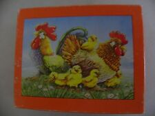 Annaberger mini puzzle - Familie Huhn - 80 Teile - vollständig - Made in GDR