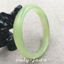 53mm Chinese Certified 100% Natural Green Xiu Jade Bangle Bracelet V0779
