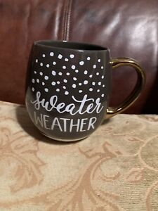 Sweater Weather Coffee Cup Mug Threshold Stoneware Some Wear On Handle