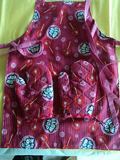 Children's BLOW POPS Oven Mitts & Apron, Handmade, Quilted, Lined,100% Cotton