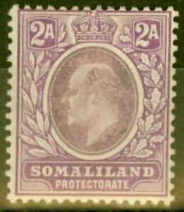 Somaliland 1909 2a Dull & Brt Purple SG47a Chalk Paper Fine Mtd Mint