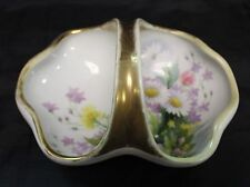Antique Nippon Hand Painted Wild Flowers Candy Dish