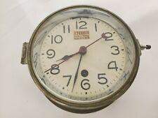 Vintage J.Terrien Brass Ship's Clock