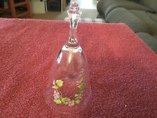Avon 24% lead crystal glass bell with flowers