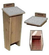Ark Workshop Shingled Bat House cedar shelter box A+ mosquito bug control Lgry