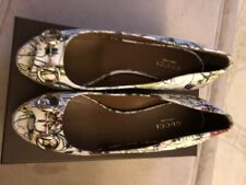 New Authentic Floral Gucci Wedge Shoes Size 36